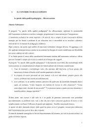 Capitolo 4.1 La ricerca azione Vittorio Fabricatore - CTRH Chiari