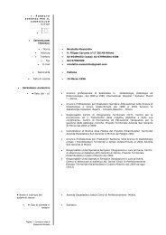Pagina 1 - Curriculum vitae di Musacchio Nicoletta ... - AMD