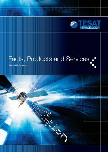 Active RF Products (960 KB) - Tesat-Spacecom GmbH & Co. KG