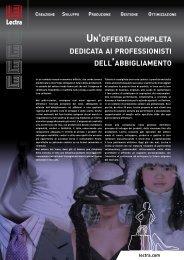 UN'OFFERTA COMPLETA DEDICATA AI PROFESSIONISTI ... - Lectra