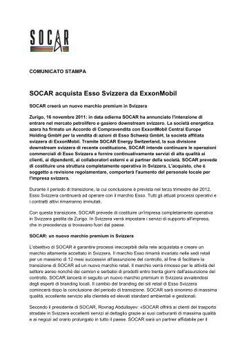 SOCAR rileva Esso Svizzera da ExxonMobil - SOCAR ENERGY ...