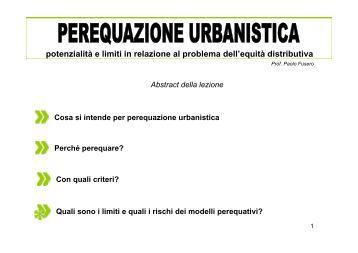 Modello perequativo - Università Gabriele d'Annunzio