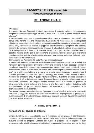 RELAZIONE FINALE - Il Chiaro del Bosco