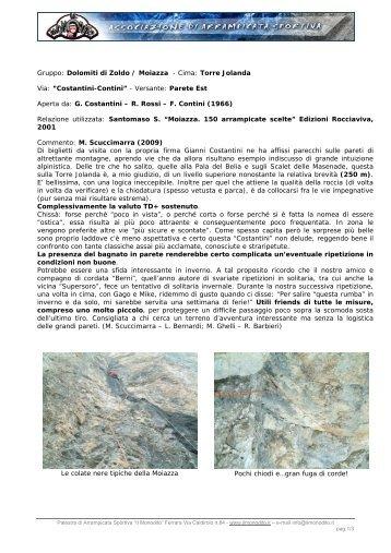 Gruppo: Dolomiti di Zoldo / Moiazza - Cima: Torre ... - Il Monodito
