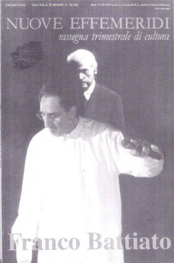 Monografia su Battiato e Sgalambro - Franco Battiato Archive