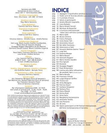 pagine iniziali - arte Centro d' Arte e Cultura La Tavolozza