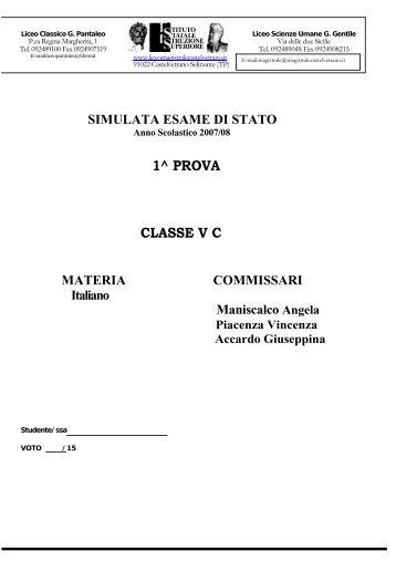 Prima - Liceo magistrale