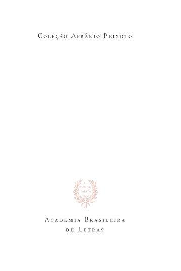 O Ocaso Do Império - Academia Brasileira de Letras