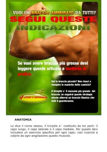 ANATOMIA Lo dice il nome stesso, il tricipite e ... - Ultimate Italia
