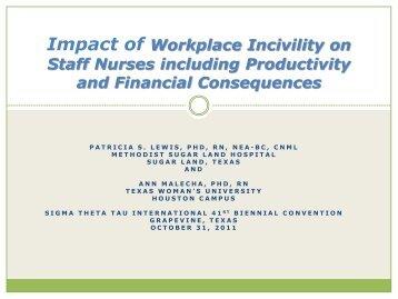 Workplace Incivility - Virginia Henderson International Nursing Library