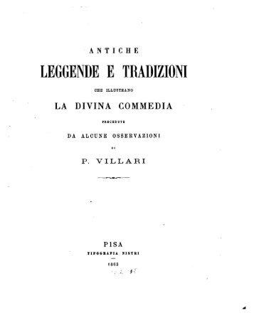 Antiche leggende e tradizioni che illustrano la Divina commedia ...