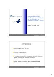 Cos'è il regolamento REACH - Confindustria Padova