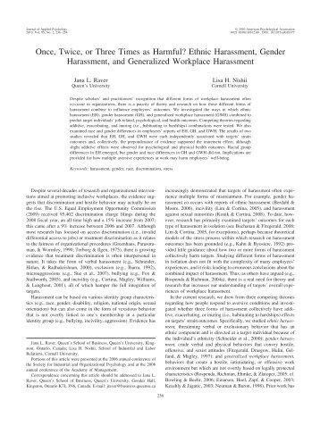 Workplace Harrassment by Dr. Jana Raver.pdf