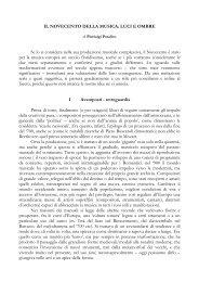 IL NOVECENTO DELLA MUSICA - Pierluigi Potalivo