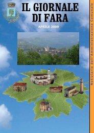 Edizione di aprile 2009 - Comune di Fara Vicentino