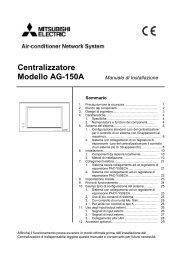 Centralizzatore Modello AG-150A Manuale di Installazione