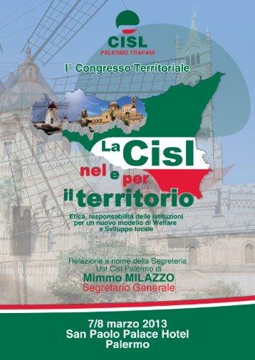 Scarica la relazione della segreteria - Cisl Palermo