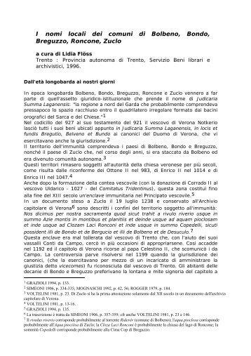 Dall'età longobarda ai nostri giorni - Trentino Cultura