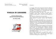 VOGLIA DI LEGGERE - Biblioteca Comunale Manfrediana di Faenza