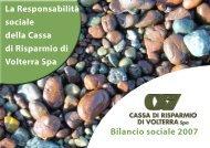 Bilancio Sociale - Cassa di Risparmio di Volterra