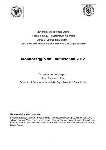 Scarica il monitoraggio - Francesco Pira
