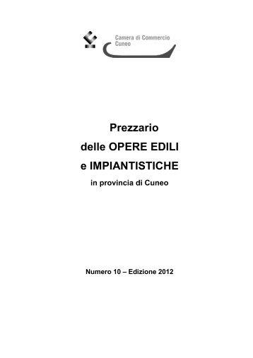 Prezzario delle OPERE EDILI e IMPIANTISTICHE - Confartigianato ...