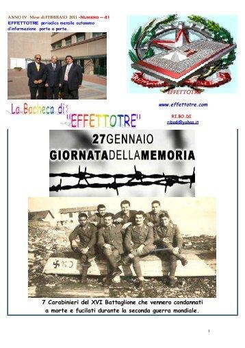 7 Carabinieri del XVI Battaglione che vennero ... - Cesd-onlus.com