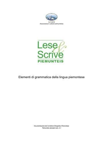 Elementi di grammatica della lingua piemontese