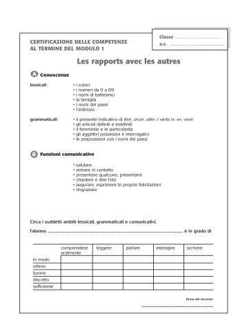Les rapports avec les autres - LANG - Edizioni