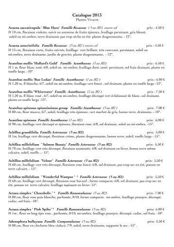 Toutes les plantes 2013.pdf - Jardins D'en Face'