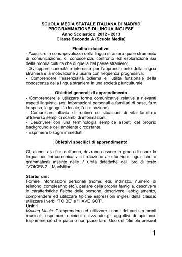 SCUOLA MEDIA STATALE ITALIANA DI MADRID ...