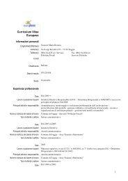 Curriculum Vitae Europass - Comune di Foggia