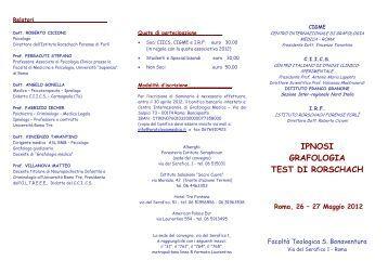 Grafologia o grafologie - Test tavole di rorschach ...