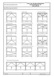 Vertikalschiebefenster Ausführungsvarianten