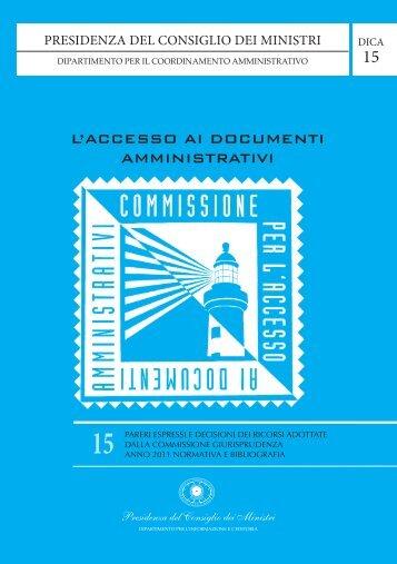 Volume 15 - Commissione per l'accesso ai documenti amministrativi