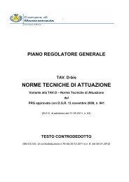 testo NTA controdedotto - Comune di Monterotondo
