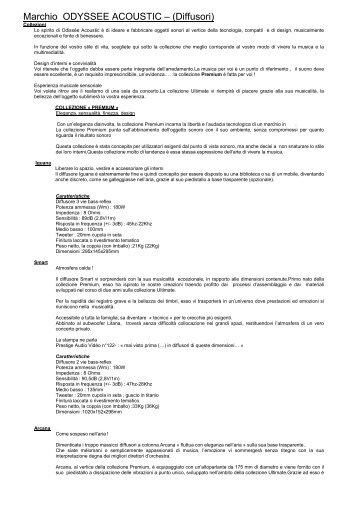 Marchio ODYSSEE ACOUSTIC – (Diffusori) - PONGOLO Generator