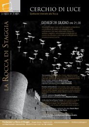 scarica il volantino dell'evento - LA ROCCA DI STAGGIA
