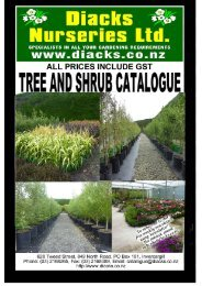 Terms and conditions of sale - Diack's Nurseries Ltd