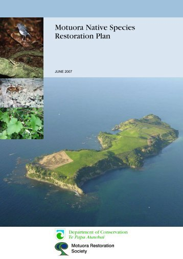 Motuora Native Species Restoration Plan - Motuora Restoration ...