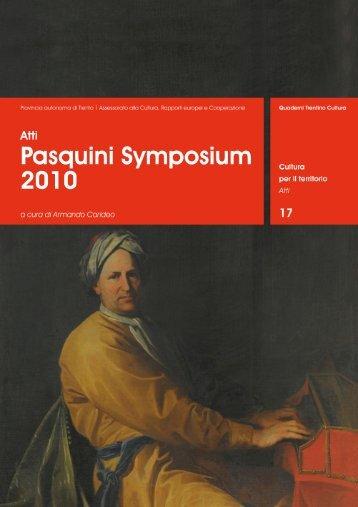 Pasquini Symposium - Patrizio Barbieri