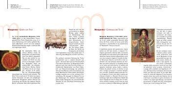 Margarete 0 Gräfin von Tirol Margareta 0 Contessa del Tirolo