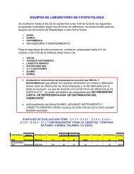 EQUIPOS DE LABORATORIO DE FITOPATOLOGIA - Corpoica