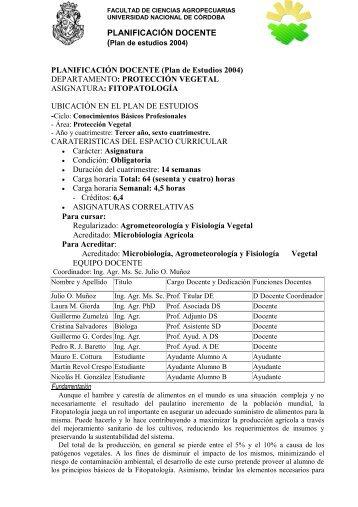 Fitopatología - Facultad de Ciencias Agropecuarias UNC ...