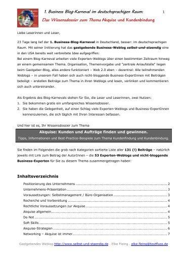 1. Business Blog-Karneval im ... - Ad!Think Werbeagentur