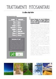 TRATTAMENTI FITOSANITARI - ISE Italiana Servizi Ecologici Srl
