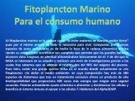 Fitoplancton. Discovery Salud - Vital Pharma de Colombia.