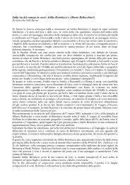 Sulla via del romazo in versi: Attilio Bertolucci e Alberto ... - LietoColle