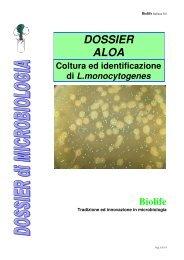 DOSSIER ALOA: coltura ed identificazione di L ... - Biolife