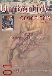 """""""CAGLI. Disegni 1931 - 1976"""" - Comune di Umbertide"""